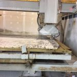 granite slab cutting saw