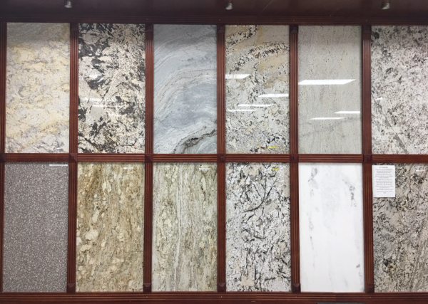 granite quartz samples showroom