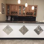 showroom kitchen granite countertop